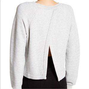Current/Elliot Open Back Sweater Top.
